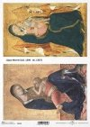 Papier ryżowy z ikonami - Madonna z dzieciątkiem - Lippo Memmi * Rice paper with icons - Madonna and child - Lippo Memmi