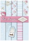 SCRAP-041 ''blue dreams'' scrapbooking papers set * zestaw papierów do scrapbooking 0