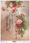 decoupage Papierblumen , Vintage, Untertitel*flores de papel decoupage, Vintage, subtítulos