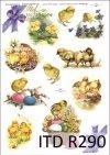 Wielkanoc, kurczaki, kurczaczki, kwiatki, wiosna, jajka, pisanki, R290