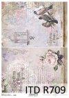 kwiaty, kwiat, róża, róże, ptaki, ptaszki, klatka dla ptaków, pismo, retro, tło
