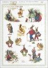 Easter, rabbits, hares, flowers, spring, eggs, Easter eggs, R287