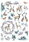 Papiery do scrapbookingu w zestawach - Święta w błękicie * Scrapbooking papers in sets - Christmas in blue