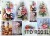 Papier decoupage malarstwo współczesne kwiaty, Malwy*Paper decoupage painting contemporary flowers, Malwa