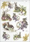 Easter, rabbits, hares, flowers, spring, eggs, Easter eggs, R286