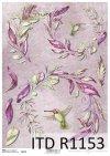 papier decoupage kwiaty, koliber*Paper decoupage flowers, hummingbird