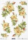 Flores de papel de arroz, rosas de té*Reispapierblumen , Teerosen*Рисовые бумажные цветы, чайные розы