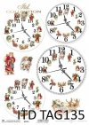 papier do scrapbookingu, świąteczne zegary*paper for scrapbooking, Christmas clocks