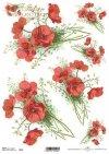 Decoupage papírové květiny, máky*Flores de papel decoupage, amapolas*Decoupage Papierblumen , Mohnblumen