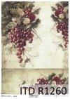 papier decoupage owoce, czerwone winogrona*Paper decoupage fruit, red grapes