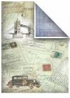 Papiery do scrapbookingu w zestawach - Stare samochody * Papers for scrapbooking in sets - Old cars