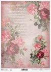 papel decoupage rosas, notas*decoupage Papierrosen , Notizen