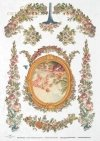 flower, flowers, decoration, decorations, ornament, ornaments, retro, vintage, tapestry, R0045