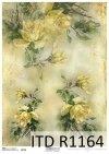 papier decoupage żółte róże, kwiaty*Paper decoupage yellow roses, flowers