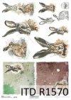 Papier decoupage Wielkanoc, szczęśliwa farma, króliki, zające*Easter, happy farm, rabbits, hares