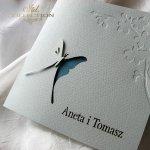Einladungskarten / Hochzeitskarte 01724_18_türkis