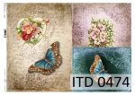 Decoupage paper ITD D0474