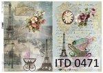 Decoupage paper ITD D0471