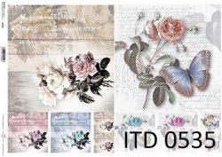 Papier decoupage ITD D0535
