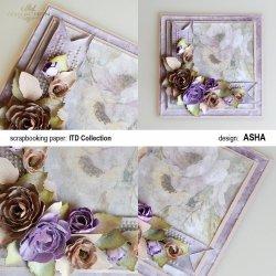 Kartka ozdobna Liliowy Ogród - praca Asha