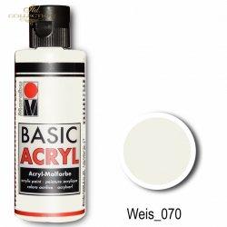 Farba akrylowa Basic Acryl 80 ml Weis 070