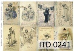 Papier decoupage ITD D0241