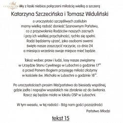 Teksty na ślub - TS15
