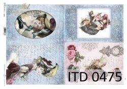 Papier decoupage ITD D0475M