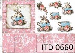 Papier decoupage ITD D0660