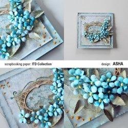 Kartka okolicznościowa Niezapominajki - praca Asha