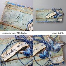 Kartka okolicznościowa Z Motylem w Tle - praca Asha