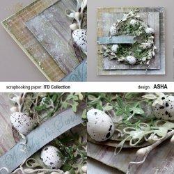 Kartka Wielkanocna z jajeczkami - praca Asha