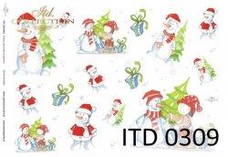 Papier decoupage ITD D0309