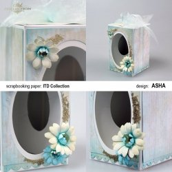 Ozdobne pudełko na wielkanocne jajo - Turkusowe Marzenie - praca Asha
