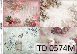 Papier decoupage ITD D0574M