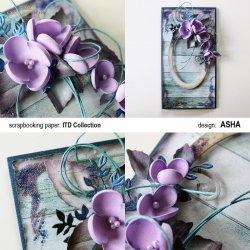 Kartka okolicznościowa Wśród Kwiatów - praca Asha