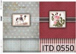 Papier decoupage ITD D0550