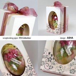 Ozdobne pudełko na wielkanocne jajo - Kwiatowe Dekoracje - praca Asha