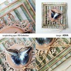 Kartka okolicznościowa Motyl - praca Asha
