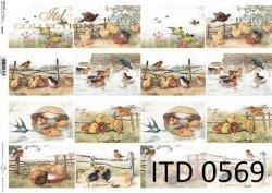Papier decoupage ITD D0569