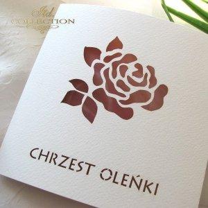 Zaproszenie na chrzest 1731 010 róża