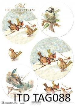 бумага для новогодних и рождественских шаров TAG0088