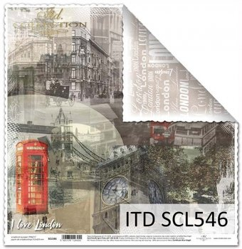 Бумага для скрапбукинга SCL546