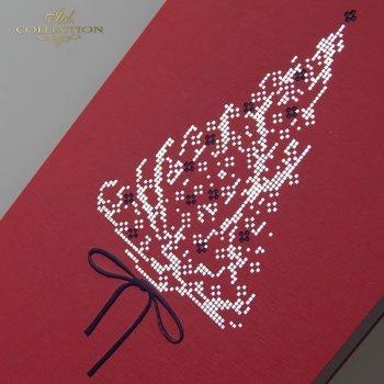 Рождественская и Новогодняя открытка K593