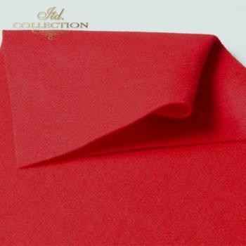 декоративный войлок красный F004