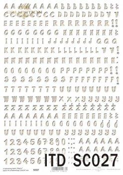 бумага для скрапбукинга SC0027