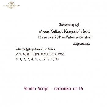 Czcionka na zaproszenie 15