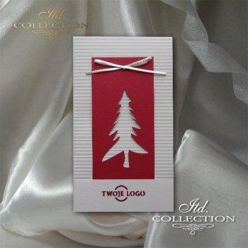 Рождественская и Новогодняя открытка K589