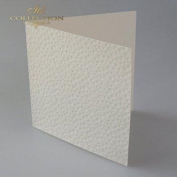 Заготовки для открыток BDK-020 кремовый цвет, точки