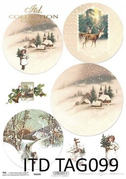 бумага для новогодних и рождественских шаров TAG0099